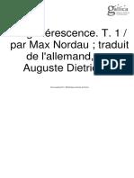 NORDAU_Dégénérescence1