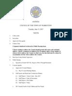 Town Council Meeting Agenda 61317