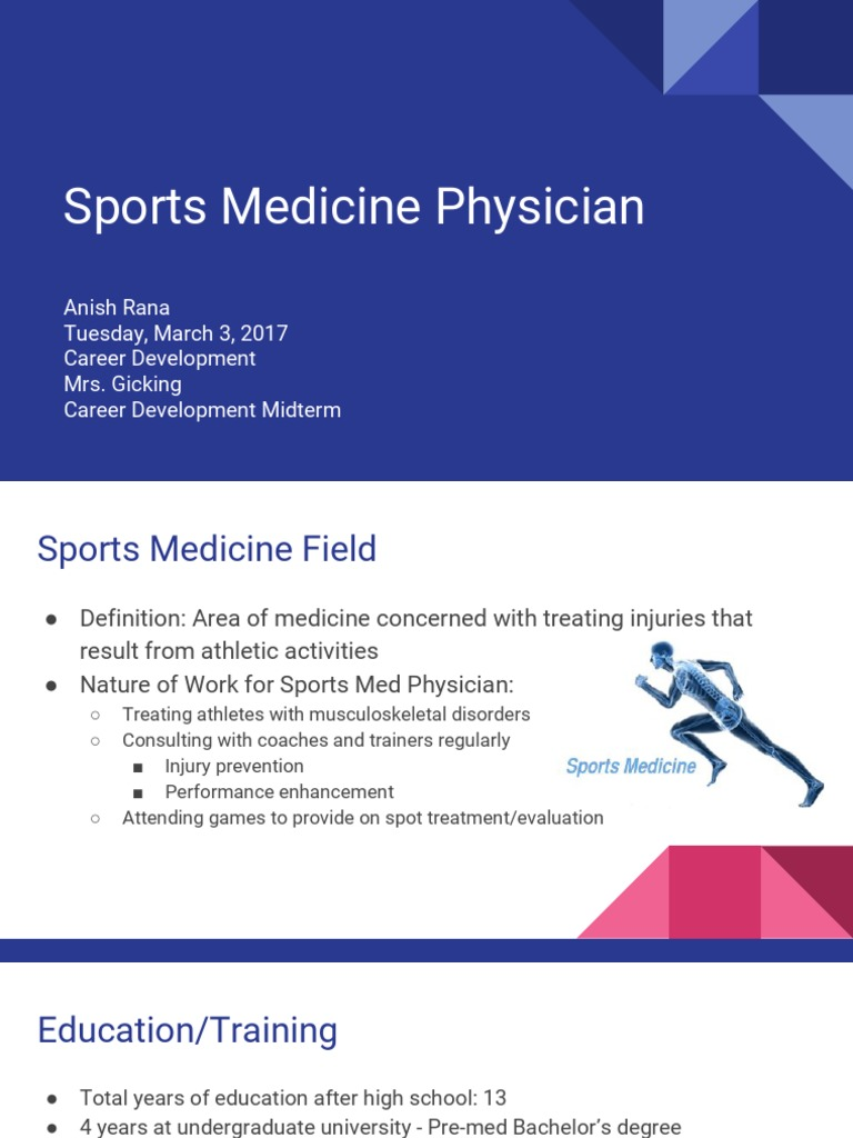 sports medicine physician | physician | general practitioner