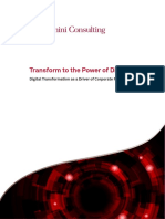 Transform to the Power of Digital