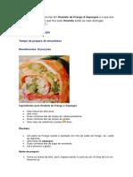 Omelete de Frango e Aspargos