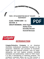 marketing segmentation of colgate toothpaste Recently colgate palmolive introduced colgate enamel health toothpaste one what marketing strategy did colgate-palmolive use here product segmentation product.