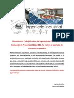 GUIA. Lineamientos Para Trabajos de Ing de PLanta Y Evaluacion de Proyectos