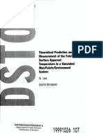 Theoretical Prediction and Measurement of the Fabric Surface Apparent Temperature in a Simulated , Man/Fabric/Environment / System by B.Lee
