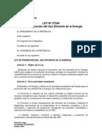 Ley N° 27345 - Ley Promoción Uso Eficiente de la Energía