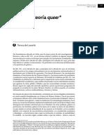 De Lauretis, Teresa - Género y Teoría Queer (Mora 2015)