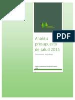 analisis presupuesto salud 2015