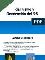 Modernismo y Generacion de 98