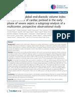 Observational Study Severe Sepsis