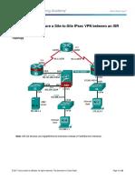 10.2.1.9 Lab B - Configure a Site-To-Site IPsec VPN Using ISR CLI and ASA ASDM