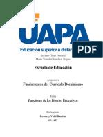 Funciones de Los Distrito Educativos