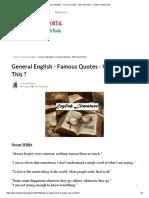 General English - Famous Quotes - Who Said This _ - TNPSC Study Portal
