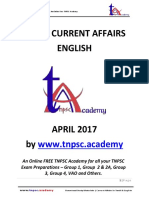 APRIL - TNPSC Current Affairs 2017