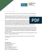 tri mentor letter pdf