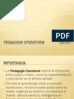 PEDAGOGIA OPERATORIA