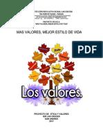 PROYECTO DE VALORES
