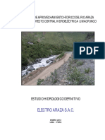 Estudio Aprovechamiento Hidrico Rio Araza