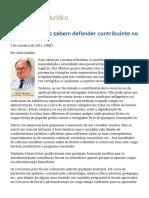 ConJur - JUSTIÇA TRIBUTÁRIA_ Só Tributaristas Sabem Defender Contribuinte No Fisco