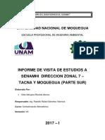 Informe de Visita a Senamhi - Tacna