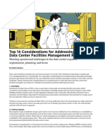 Top 14 Considerations for Addressing Data Center Facilities Management Risks