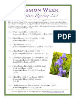 Easter Passion Week Scripture Reading List 2013 PDF