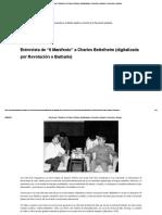 """Entrevista de """"Il Manifesto"""" a Charles Bettelheim (Digitalizada Por Revolución o Barbarie) _ Revolución o Barbarie"""