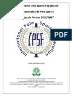 IPSF Codigo de Pontos 2016-17 Portuguese