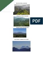Sitios Arqueologicos, Volcanes, Mares, Montañas, Rios, Etc de Centro America