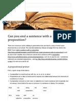 Preposição No Final de Frase 1