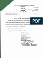 Kobe Jones notice of deposition