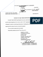 Leo Lewis notice of deposition