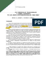 Circuitos comerciales tradicionales y cambio económico en los Andes Centromeridionales (1830-1930)-Erick Langer y Viviana Conti