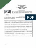 Alhambra City Council - agenda - June 12, 2017