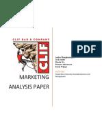 clif bar marketing analysis report