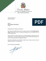 Danilo envía condolencias por la muerte del general retirado Rafael Antonio Álvarez Torres