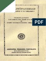 Isavayaopanishad