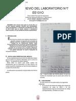 INFORME PREVIO DEL LABORATORIO N°7 EE131O UNI