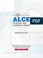 Alce Sample-test January-2011 Orfeas