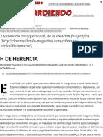 H de Herencia - Clavoardiendo Magazine