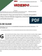 G de Guiar - Clavoardiendo Magazine