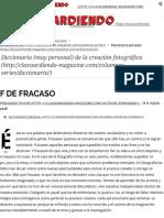 F de Fracaso - Clavoardiendo Magazine
