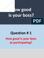 How good is your boss?