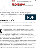 E de Evolución - Clavoardiendo Magazine