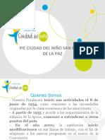 Presentación Pie Ciudad Del Niño San Pedro de La Paz