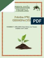 Fisiologia Vegetal P 1 GERMINACION