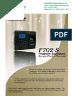 ctrl de acceso ZK TAC4702S(F702S)