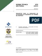 NTS AV013 Operación Parapente