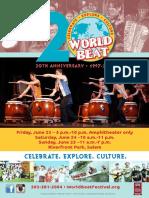 2017 World Beat schedule