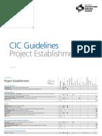 2 CIC 2016 Project Establishment