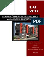 Analisis y Diseño de Un Edificio en Albañileria Confinada